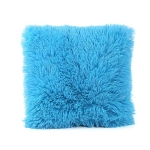 Candy Color Plush Sofa Waist Pillow Cushion Case for Home Decor, Specification:42cmx42cm(Sky Blue)
