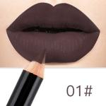 2 PCS Waterproof Cosmetic Matte Lipstick  Pencil Sexy Red(01)