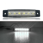 4 PCS 12V 6 SMD Auto Car Bus Truck Wagons External Side Marker Lights LED Trailer Indicator Light Rear Side Lamp(White)