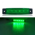 4 PCS 12V 6 SMD Auto Car Bus Truck Wagons External Side Marker Lights LED Trailer Indicator Light Rear Side Lamp(Green)