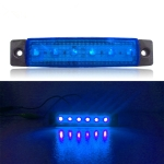 4 PCS 12V 6 SMD Auto Car Bus Truck Wagons External Side Marker Lights LED Trailer Indicator Light Rear Side Lamp(Blue)
