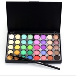 40 Colors Eye Makeup Matte Glitter Diamond Shimmer Eye Primer Luminous Eye Shadow(E40#2)