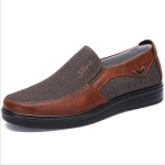 Low-cut Business Casual Soft Soles Flat Shoes for Men, Shoe Size:40(35936 Red Brown)