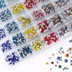 1440 PCS/Pack Super Glitter Multicolor Rhinestones Nail Art Decoration(35#)