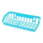 Plastic Sink Shelf  Double Suction Cup  Sponge Drain Rack  Multifunction Storage Racks(Blue)
