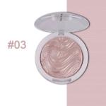 Highlighter Bronzer Brighten Powder for Face(03# Bird pattern)