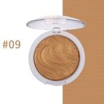Highlighter Bronzer Brighten Powder for Face(09# Bird pattern)