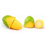5 PCS Kids Playing House Plastic Fruit Vegetable Cutting Toys Children Educational Toys(Corn)