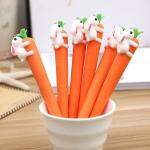 3PCS Creative Carrot Rabbit Gel Pen Kawaii Ink Pen
