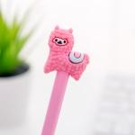 4 PCS Gel Pens Cartoon Creative Alpaca Shape Student Signature Pen(Pink)