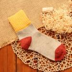5 Pairs Women Winter Vintage Rabbit Wool Socks Thicken Warm Female Fashion Patchwork Retro thermal Cotton Socks, Size:Free Size(yellow socks)