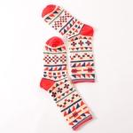 5 Pairs Funny Cute Happy Socks Womens Men Print Casual Harajuku Socks(Triangle)