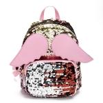 Brilliant Sequins Shoulder Bag Angel Wing Shape Bag(Pink)