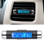 2 in 1 Car Auto Thermometer Clock Calendar LCD Display Screen