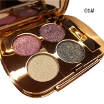 Professional  Eye Makeup Eyeshadow Palette Gold Smoky Cosmetics Makeup Palette Diamond Bright Glitter Eye Shadow(1)