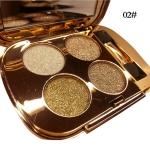Professional  Eye Makeup Eyeshadow Palette Gold Smoky Cosmetics Makeup Palette Diamond Bright Glitter Eye Shadow(2)