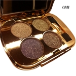 Professional  Eye Makeup Eyeshadow Palette Gold Smoky Cosmetics Makeup Palette Diamond Bright Glitter Eye Shadow(3)