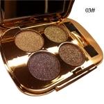 Professional  Eye Makeup Eyeshadow Palette Gold Smoky Cosmetics Makeup Palette Diamond Bright Glitter Eye Shadow(3)