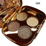 Professional  Eye Makeup Eyeshadow Palette Gold Smoky Cosmetics Makeup Palette Diamond Bright Glitter Eye Shadow(5)