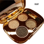 Professional  Eye Makeup Eyeshadow Palette Gold Smoky Cosmetics Makeup Palette Diamond Bright Glitter Eye Shadow(6)