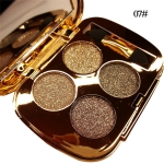 Professional  Eye Makeup Eyeshadow Palette Gold Smoky Cosmetics Makeup Palette Diamond Bright Glitter Eye Shadow(7)