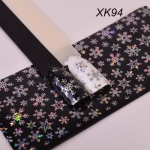 3 PCS Christmas Snowflake Holographic Nail Foils Christmas Winter Nail Art Transfer Foil Sticker(XK94)
