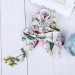 Bow Streamers Hair Ring Fashion Ribbon Girl Hair BandsHorsetail Tie Headwear Hair Accessories(White)