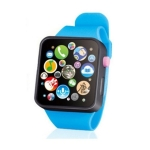 Kids Early Education Toy Wrist Watch 3D Touch Screen Music Smart Teaching Children Birthday Gifts(Blue)