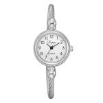 Lvpai Ladies Retro Round Large Dial Alloy Twisted Thin Chain Watch(P432White)