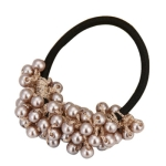 3 PCS Women Fashion Vitange Rhinestone Crystal Pearl Hair Band(Beige)