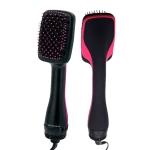 Professional Multi Function Electric Hair Blow Brush Hot Air Hair Curls Comb Salon Hair Styler, Plug standard:US(Rose Red)