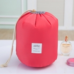 Large-capacity Cosmetic Bag Travel Suit Wash Bag Outdoor Waterproof Storage Bag Cylinder Wash Bag(Red)