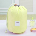 Large-capacity Cosmetic Bag Travel Suit Wash Bag Outdoor Waterproof Storage Bag Cylinder Wash Bag(Yellow)