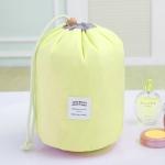 Large-capacity Cosmetic Bag Travel Suit Wash Bag Outdoor Waterproof Storage Bag Cylinder Wash Bag(Yellow)