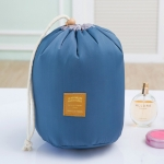 Large-capacity Cosmetic Bag Travel Suit Wash Bag Outdoor Waterproof Storage Bag Cylinder Wash Bag(Blue)
