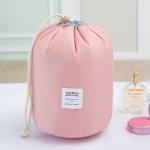 Large-capacity Cosmetic Bag Travel Suit Wash Bag Outdoor Waterproof Storage Bag Cylinder Wash Bag(Maca pink)