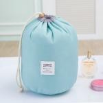 Large-capacity Cosmetic Bag Travel Suit Wash Bag Outdoor Waterproof Storage Bag Cylinder Wash Bag(Maca blue)