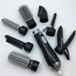 8 in 1 Professional Hair Dryer Hair Curler for Hotel Travel With Comb Powerful Hairdryer(black)