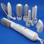 8 in 1 Professional Hair Dryer Hair Curler for Hotel Travel With Comb Powerful Hairdryer(White)