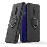 PC + TPU Shockproof Protective Case for VIVO X27 Pro, with Magnetic Ring Holder(Black)