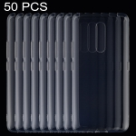 50 PCS 0.75mm Ultrathin Transparent TPU Soft Protective Case for Vivo X27 Pro