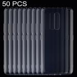 50 PCS 0.75mm Ultrathin Transparent TPU Soft Protective Case for Vivo X27 Pro