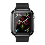 USAMS Full Coverage TPU Case for Apple Watch Series 4 44mm(Black)