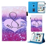 Universal Gradient Pattern Horizontal Flip Leather Case for 8 inch Tablet PC, with Holder & Card Slot & Wallet