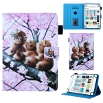 Universal Cats on the Tree Pattern Horizontal Flip Leather Case for 10 inch Tablet PC, with Holder & Card Slot & Wallet