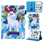 Universal Rainbow Unicorn Pattern Horizontal Flip Leather Case for 10 inch Tablet PC, with Holder & Card Slot & Wallet