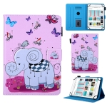 Universal Butterfly Elephant Pattern Horizontal Flip Leather Case for 10 inch Tablet PC, with Holder & Card Slot & Wallet
