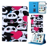 Universal Pandas Pattern Horizontal Flip Leather Case for 10 inch Tablet PC, with Holder & Card Slot & Wallet