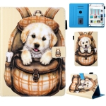 Universal School Bag Series Cute Dog Pattern Horizontal Flip Leather Case for 7 inch Tablet PC, with Holder & Card Slot & Wallet