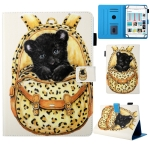 Universal School Bag Series Leopard Pattern Horizontal Flip Leather Case for 7 inch Tablet PC, with Holder & Card Slot & Wallet